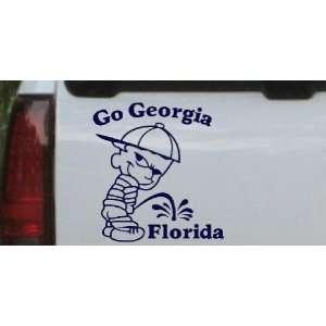Go Georgia Pee On Florida Car Window Wall Laptop Decal Sticker    Navy