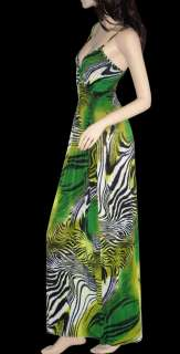 NEW Animal Print Long Maxi Dress Summer Beach Dress S/M