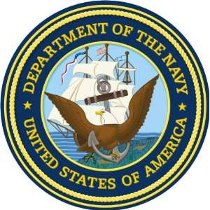 US Navy Department Seal Decal Sticker 3.8 6 Pack