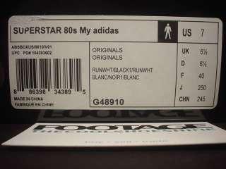 Superstar 80s WHITE BLACK GOLD RED RUN DMC JAM MASTER JAY JMJ 7
