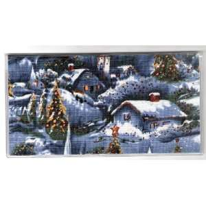 Checkbook Cover Christmas Holiday Snow Scene