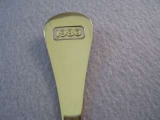 Jensen Annual Spoon 1980 Chicory Gold Plated Sterling Silver