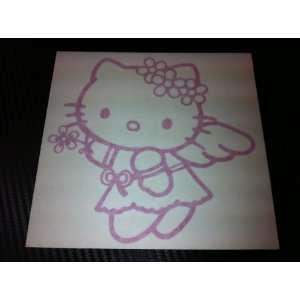 1 X Hello Kitty Angel Style Racing Car Decal Sticker