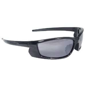 Protective Safety Glasses, Smoke Lens, Black Frame