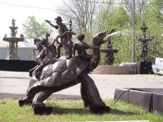 Cast Bronze Big Turtle w/ Children Fountain FREE S/H