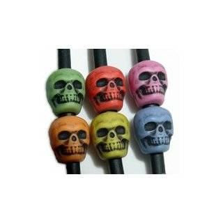 White Skull Pony Beads, 1/2 Lb (Bag of 450) : Toys & Games :