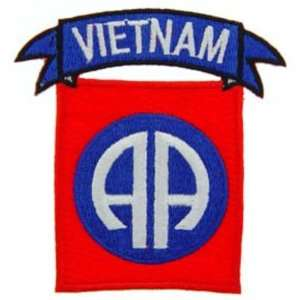 U.S. Army 82nd Airborne Vietnam Patch Red & Blue 3 Patio