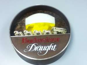 EF6 BUDWEISER BEER SIGN LIGHT BARREL DRAUGHT HORSE OLD LIGHTED
