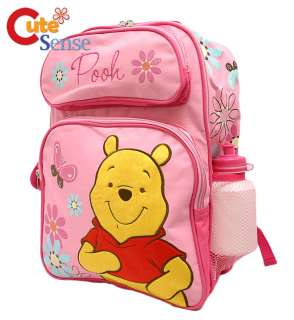 DISNEY Winnie Pooh Pink Large 16 School Backpack/Bag