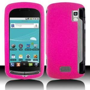LG US760 Genesis Rubber Hot Pink Case Cover Protector