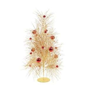 Red Ornament Gold Glitter Pine Christmas Trees 31