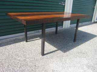 BAUGHMAN MULTI WOOD STRIPED DINING TABLE MID CENTURY DANISH MODERN