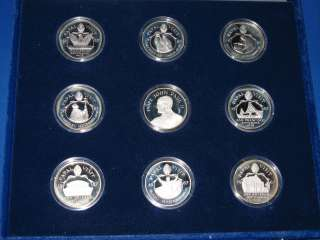 Silver Collection 9 Proof Sterling Art Rounds Pope John Paul II