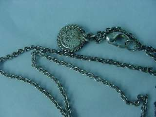 VTG THE VATICAN LIBRARY COLLECTIBLES SILVER TONE PENDANT CROSS CHAIN