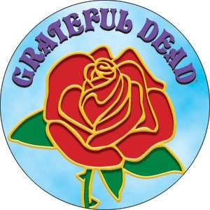 Button Pin Badge Grateful Dead Rose w/Logo