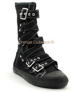 DEMONIA Womens Goth Punk Sneakers Boots w/Buckles Shoes 885487007663
