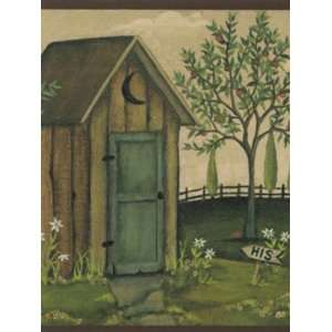 Wallpaper York Border Gallery Outhouse CN1100BD