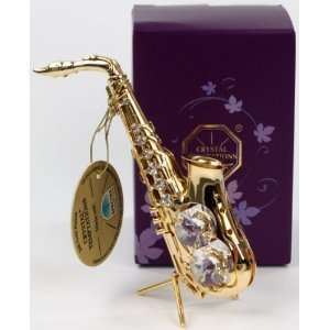 Jazz saxophone statue/ figure 24k gold plated made with SPECTRA