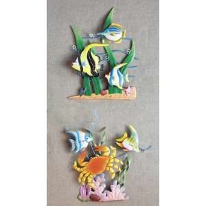 Tropical Fish Beach Coral Reef Crab Wall Hanging Art Home & Kitchen