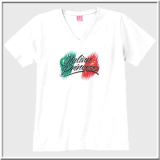 Italian Princess Italy Flag Pride WOMENS SHIRTS S 2X,3X