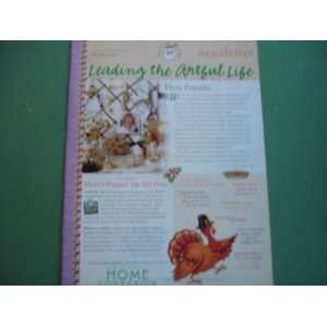 Leading the Artful Life Newsletter (Holiday 2001) Mary