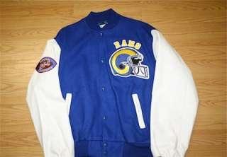 Vintage Los Angeles Rams Chalk Line Jacket NFL XL Dickerson LA Varisty