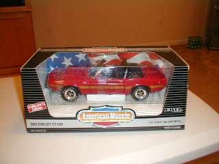 ERTL AMERICAN MUSCLE 1969 SHELBY GT 500 DIECAST 1/18