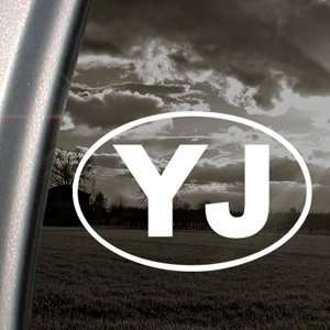 YJ EURO Decal JEEP OFF ROAD WRANGLER Window Sticker