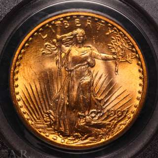 1907 St. Gaudens $20 Gold Double Eagle PCGS MS63 OGH