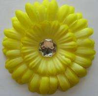 LOT Girls Baby Daisy Flower Hair Bow clip 10 pcs FREE