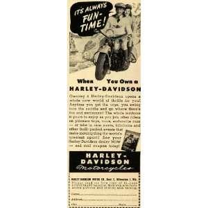 1947 Ad Harley Davidson Motor Co. Motorcycles Bike