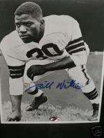 BILL WILLIS AUTOGRAPHED( CLEVELAND BROWNS ) 8 X 10