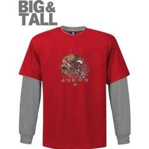 San Francisco 49ers Big & Tall Helmet Long Sleeve 2 Fer