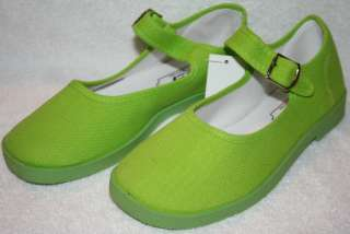 Easy Mary Jane Girl Shoes/ Lime Green
