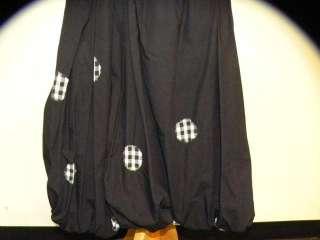 Sonia Rykiel Black Pleated Bubble Skirt M CUTE