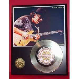 Gold Record Outlet Santana 24KT Gold Record Display LTD