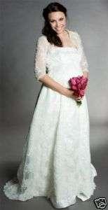 Elegant Lace Satin Maternity Bridal wedding Dress Gown