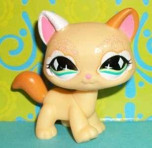 Pet Shop~#626 FANCIEST PEACH GLITTER/SPARKLE KITTY CAT~C146 Rare LPS