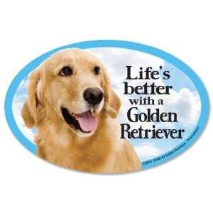 Golden Retriever Oval Dog Magnet for Cars