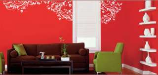 Vinyl Wall Decal Sticker Swirl Flower Floral Design