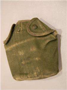 ORIGINAL US ARMY VIETNAM WAR CANVAS CANTEEN COVER