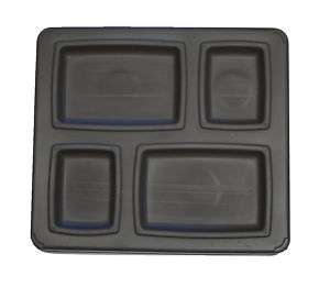 Food Tray 4 Compartment Insulated Stackable GOLD 10/cs