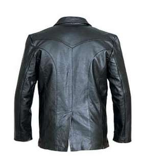 Lambskin Leather 3 BUTTON Dress Blazer SUIT JACKET Sport Coat