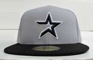 Houston Astros Grey On Black All Sizes Cap Hat by New Era