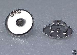 14k WG Extra Large 9mm SCREW BACK Ear Nut Earring Backs