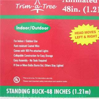 in box beautiful and rear 48 1 21m animated standing buck deer head