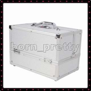 Metal BOX CASE MAKEUP COSMETIC NAIL ART Kit TOOL