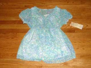 NWT Oh Baby Motherhood Maternity Blue Flower Blouse S