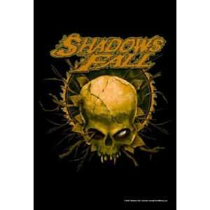 Shadows Fall Skull 30x40 Textile Flag Poster