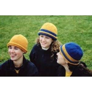 School Colors Hat Knitting Pattern (AC 53): Betsy Lee